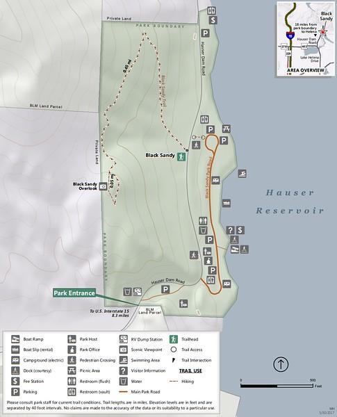 Black Sandy State Park (Trail Map)