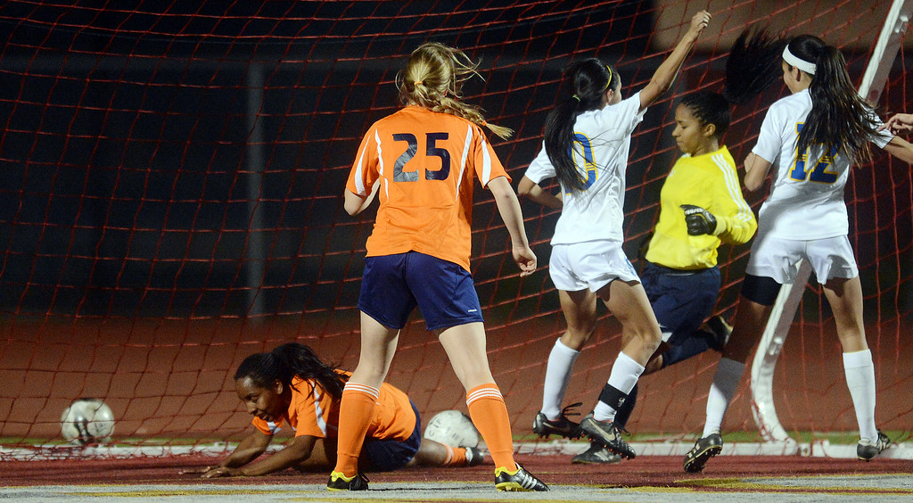 . (Will Lester/Staff Photographer) Bishop Amat defeats Pasadena Poly 4-2 Saturday March 2, 2013 in the 2013 Division 3 CIF-Southern Section Girls Soccer Championship at Corona High School.