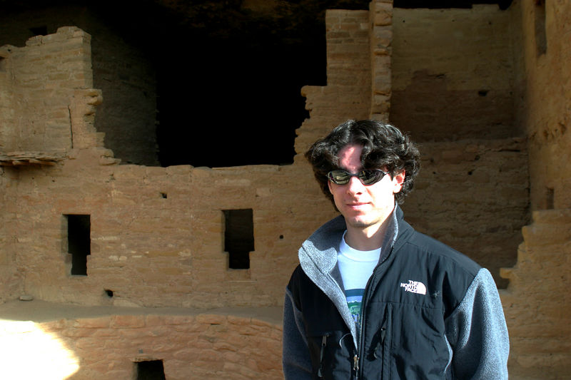 Jeff by the ruins.  Nobody knows why the Indians left this place.
