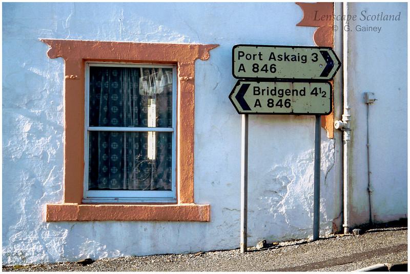 Ballygrant road sign (1998)