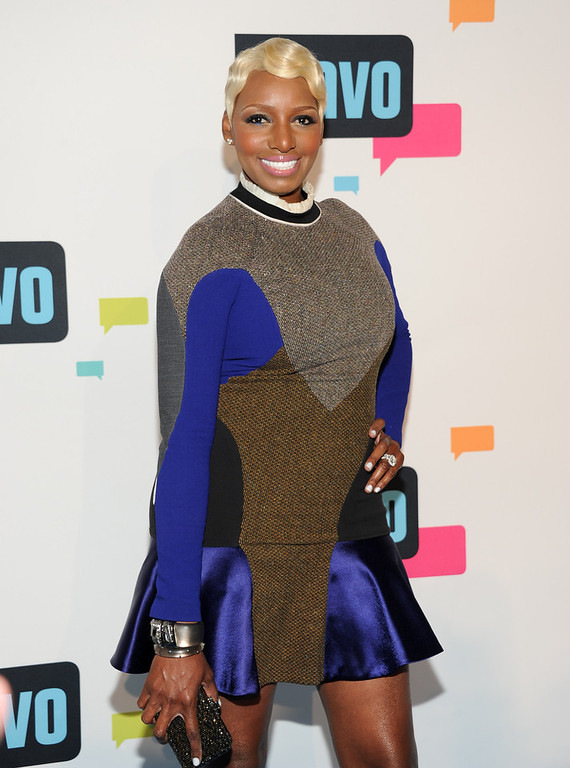 ". Actress NeNe Leakes from ""The Real Housewives of Atlanta\"" attends the Bravo Network 2013 Upfront on Wednesday April 3, 2013 in New York. (Photo by Evan Agostini/Invision/AP)"
