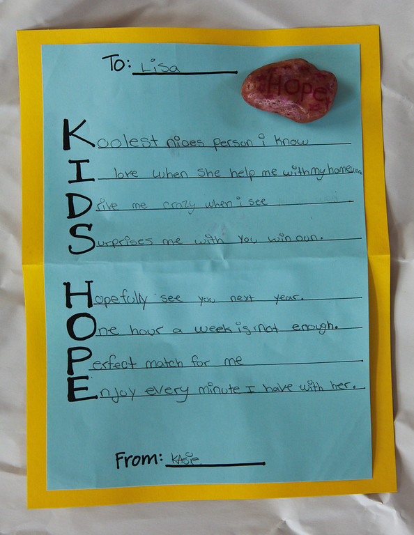Kids Hope Cards May 2011