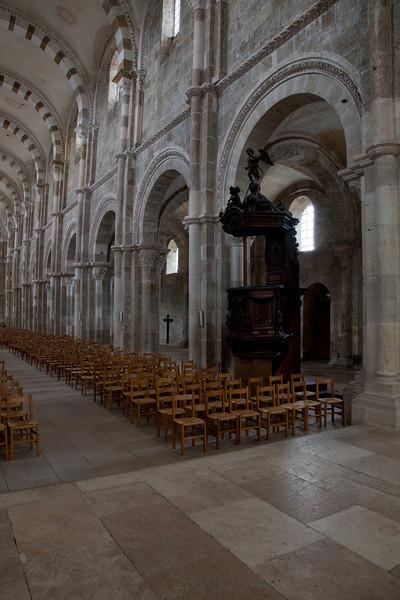 Vezelay Sainte-Madeleine Abbey Nave Elevation