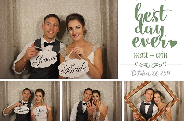 Erin & Matt's Wedding - 10.29.17 - Photo Strips