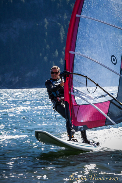 Windsurfing on Kootenay Lake