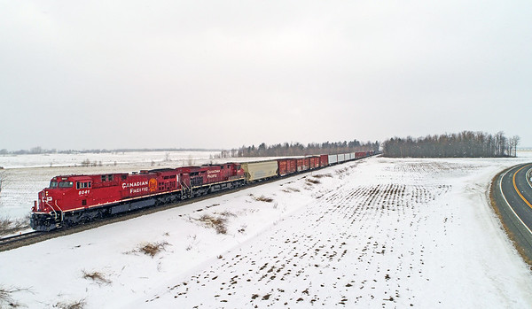 Canadian Pacific 252, Lacolle, Quebec, March 3 2019.