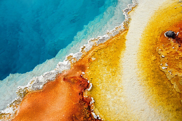 Confluence (Abstraction in Black Pool Geyser) Yellowstone National Park submitted by: Ahmer Inam from USA