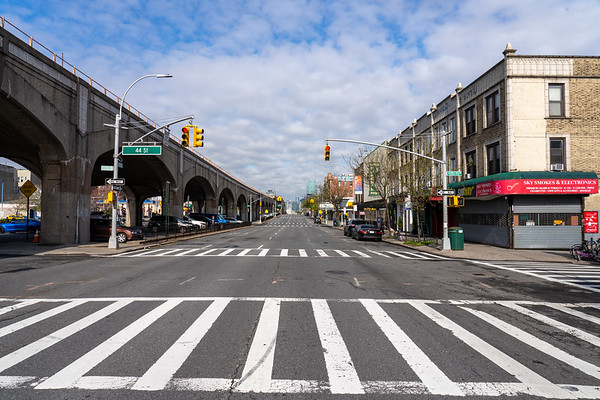 Queens, New York a quiet borough in the pandemic times - April 25, 2020