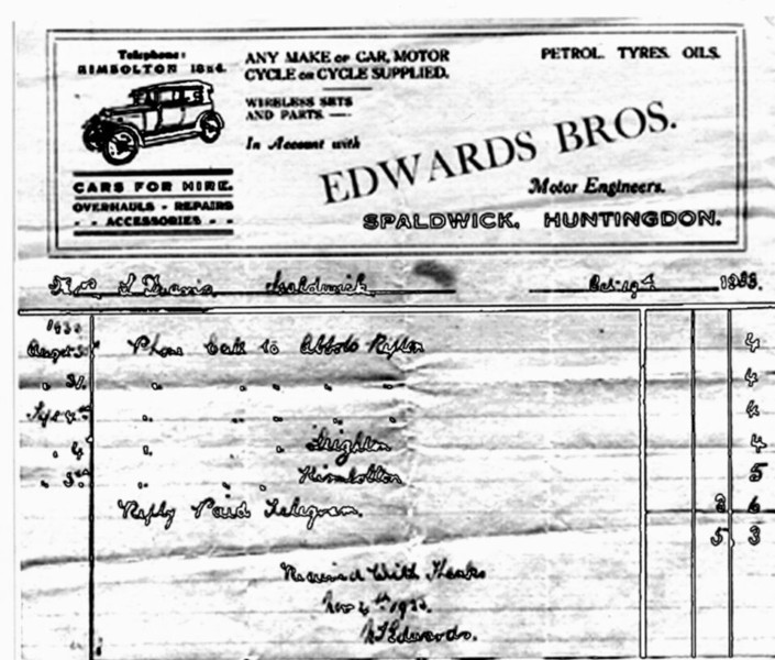Edwards Bill head Provided by Elizabeth Smith