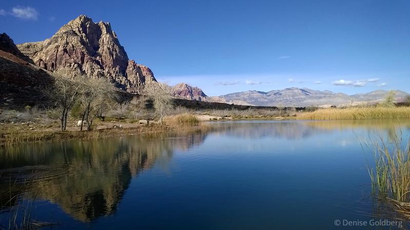 reflecting mountains, at Spring Mountain Ranch