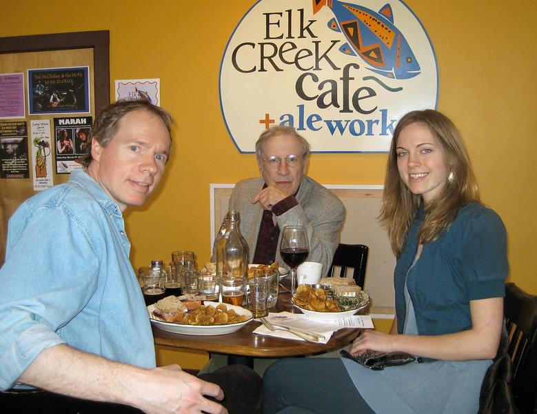FL, Larry Lebin, Annie, at Elk Creek Cafe, Millheim PA. Feb 21 2010