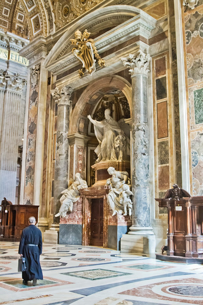 Monument to Pope Gregory XIII by Camillo Rusconi