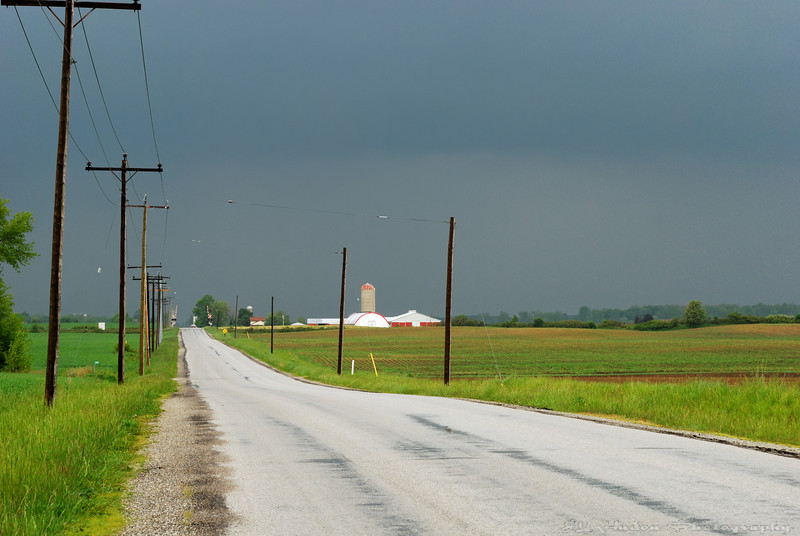 June 11th, 2008 - The road to a bigger town, The storm at the horizon was really big! Have a great day - JY