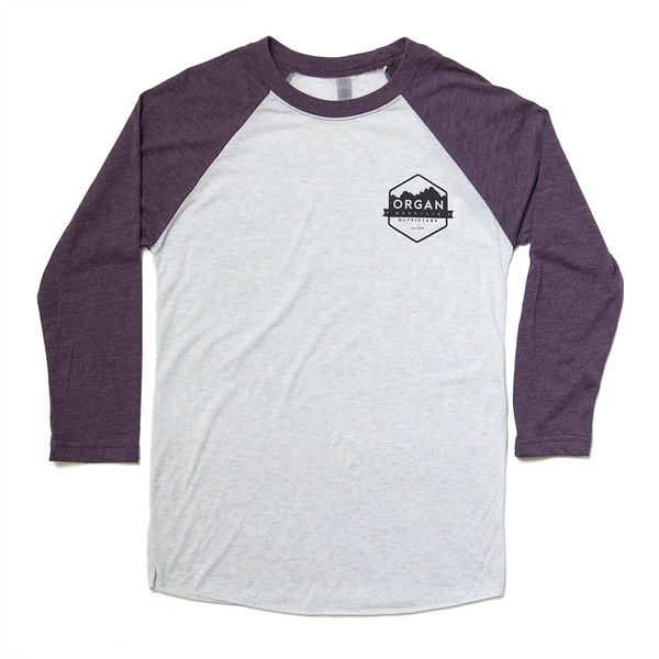 Organ Mountain Outfitters - Outdoor Apparel - Mens T-Shirt - Pocket Baseball Tee - Vintage Aggie White.jpg