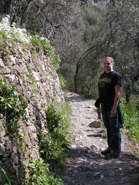 Cheryl on the hiking trail.