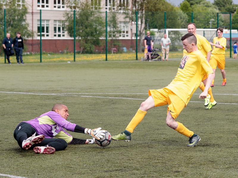 St Mirren legend v fans football match.