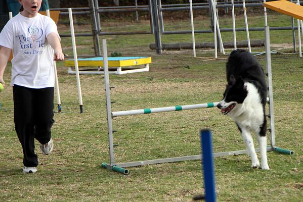 Erin Runs Daisy Dec 2009