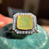 'Faithful & Firm' Yellow Chalcedony Ring, by Seal & Scribe 26