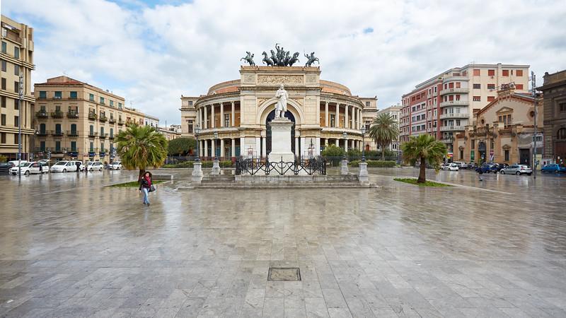 Teatro Politeama Garibaldi, Palerme, Sicile, Italie
