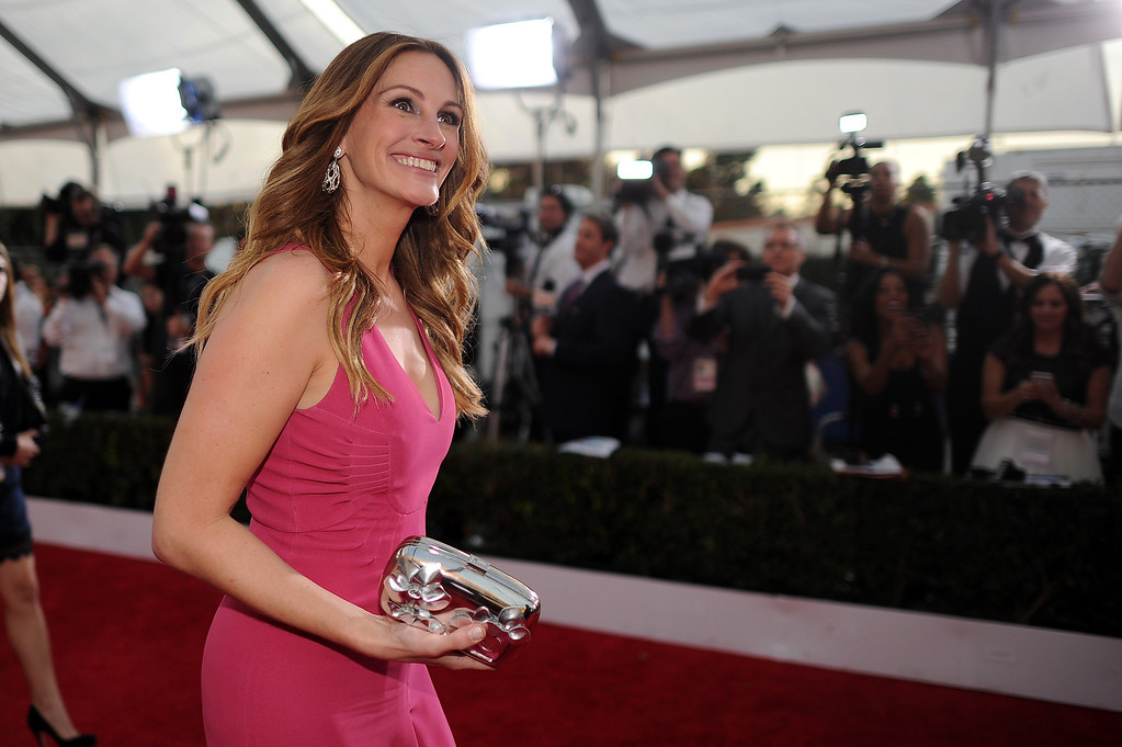 . Julia Roberts on the red carpet at the 20th Annual Screen Actors Guild Awards  at the Shrine Auditorium in Los Angeles, California on Saturday January 18, 2014 (Photo by Hans Gutknecht / Los Angeles Daily News)