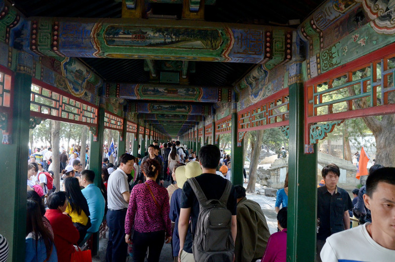 The next several photos are at the summer palace - walking the grounds and taking a ride in the dragon boats.