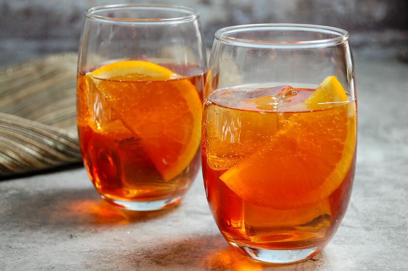 Maple Bourbon Aperol Spritz