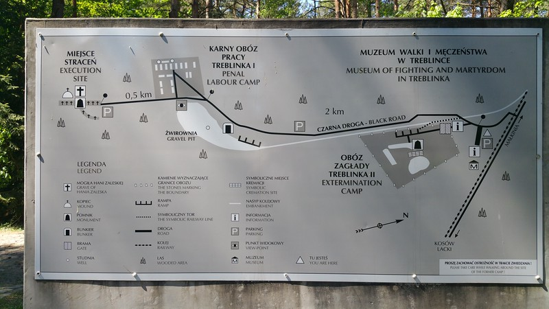 This map shows the layout of the camp..we are at the P on the right.