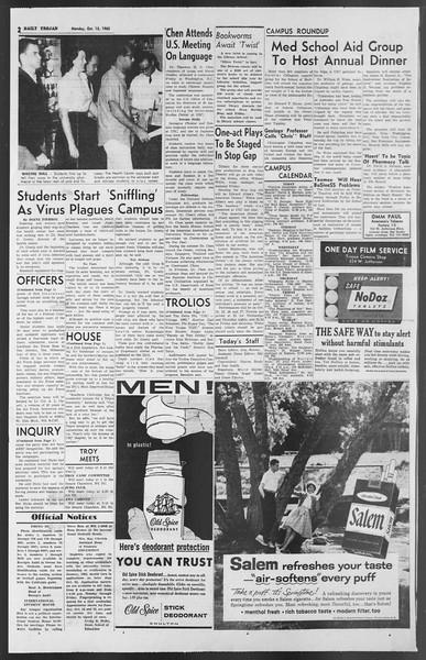 Daily Trojan, Vol. 54, No. 16, October 15, 1962