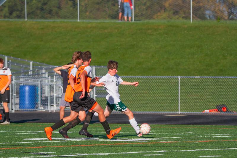 Holy Family Varsity Soccer vs. Delano, 9/19/19: Joseph Maher '23 (8)