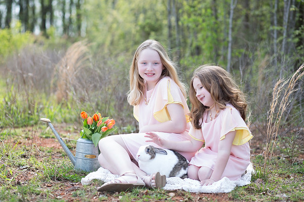 {Ella Kate and Leah Easter 2019}