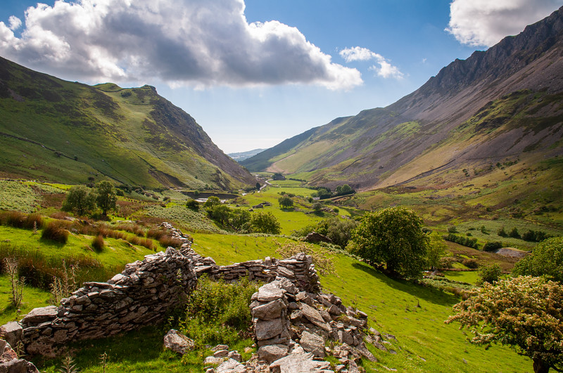 Nantlle Valley in Wales