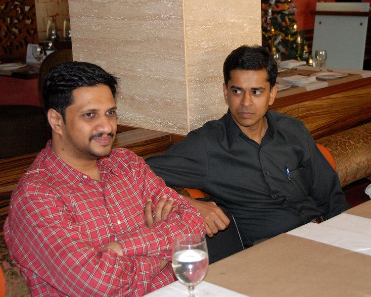 Vipul Shah Lunch at Fine Dine Mumbai 25th Dec'06