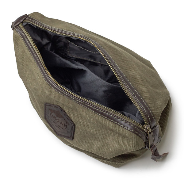 Outdoor Apparel - Organ Mountain Outfitters - Bags - Leather and Canvas Travel Kit - Olive Drab - Interior.jpg