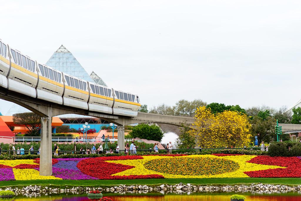 Monorail - Epcot Flower & Garden Festival 2016