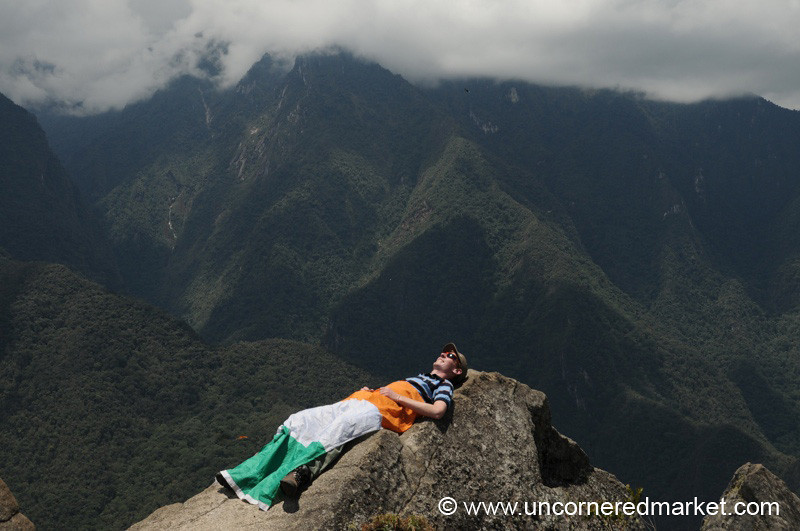 A Proud Irishman Atop Wanya Picchu