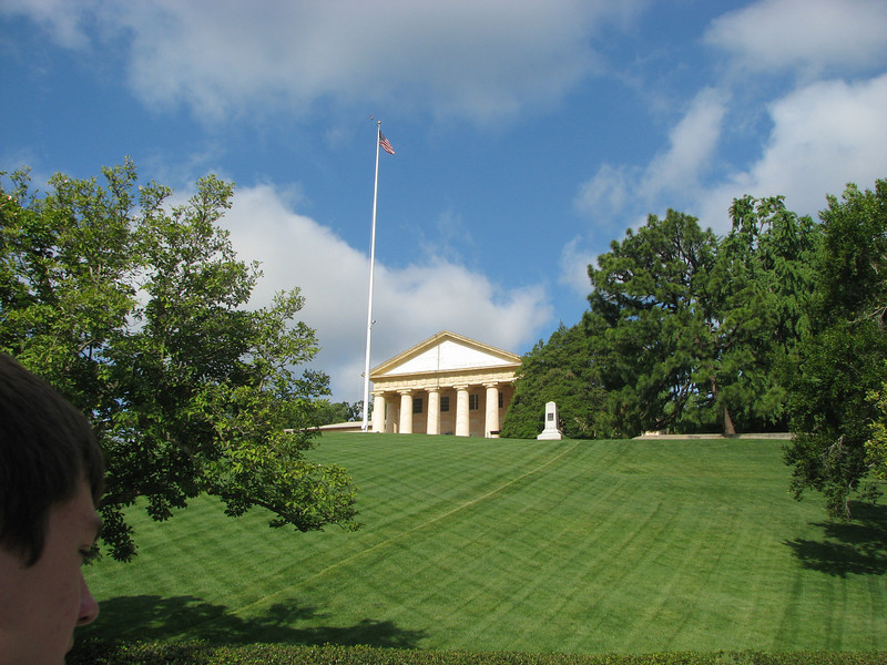 Arlington cemetery. The land once belonged to Martha Washington's great, great granddaughter and her husband Robert E. Lee!