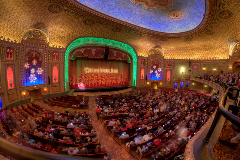 "People fill the seats for a free screening of the holiday classic ""It's a Wonderful Life"" at the historic Tennessee Theatre in Knoxville, TN on Sunday, December 14, 2014. Copyright 2014 Jason Barnette"