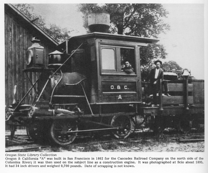 Encyclopedia of Western Railroads, Oregon, Robertson, page 100