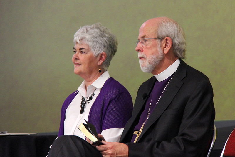 The Rev. Mark S. Hanson, presiding bishop, is joined by his wife Ione.