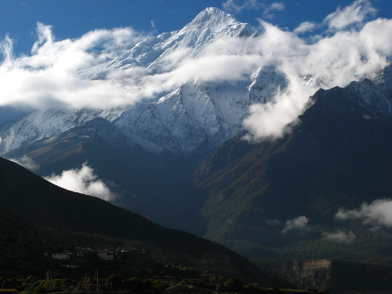 The view from Jomsom airport.