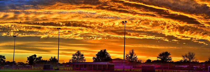 Sunset over Glassey Park