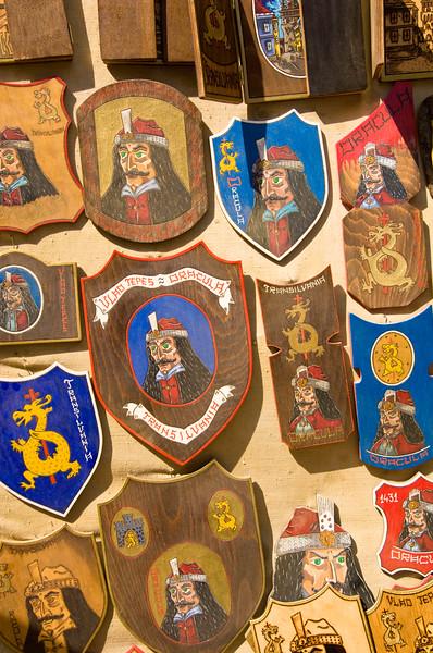 Souvenir stall, Citadel, Sighisoara, Transylvania, Romania