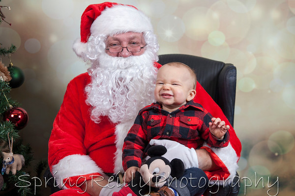 Christmas-Bryson with Santa