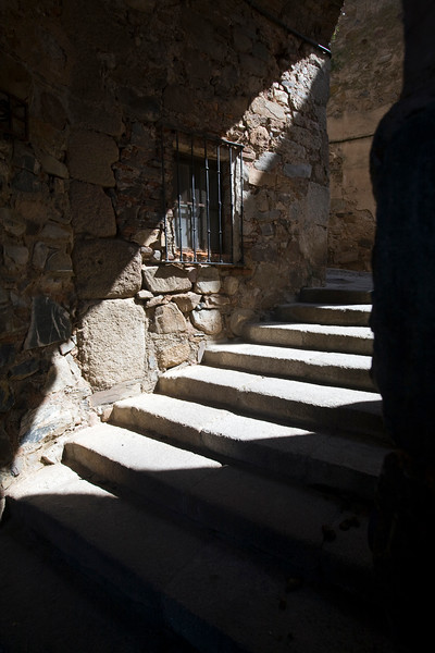 Alley stairs, Caceres, Spain