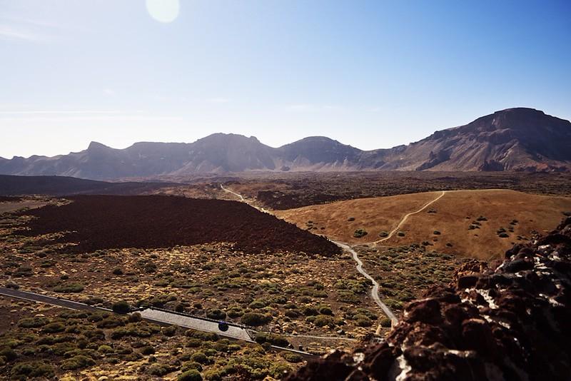 Výhled na kalderu Caňadas od dolní stanice lanovky
