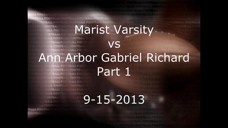 Marist vs Gabriel Richard 9-15-2013