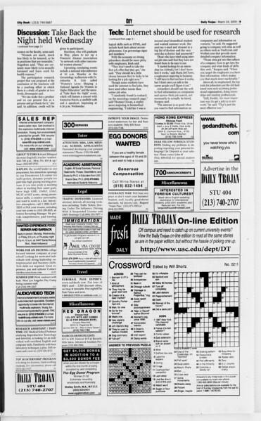 Daily Trojan, Vol. 139, No. 43, March 24, 2000