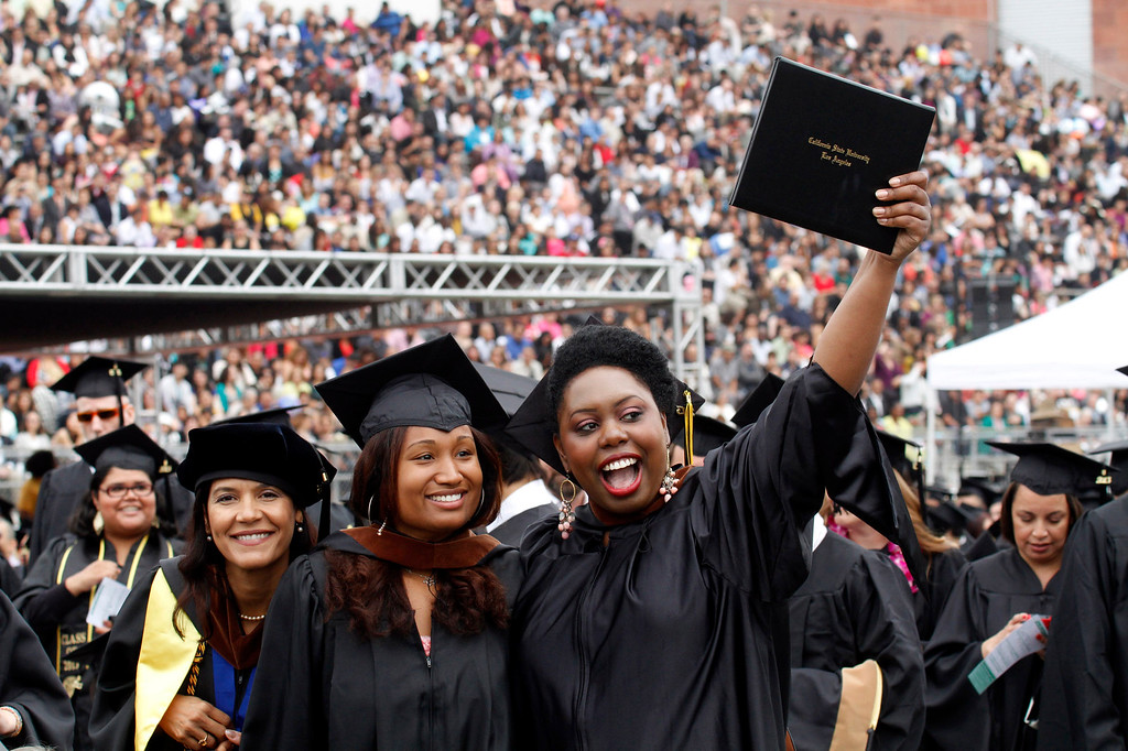 . Graduates during the California State University, Los Angeles, Sixty-Sixth Graduate and Undergraduate Commencement Ceremony, at California State University Athletic Stadium, in Los Angeles, Saturday, June 15, 2013. (Correspondent Photo by James Carbone/SXCITY)