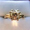 Spilt Prong Yellow Gold Solitaire Mounting, by Stuller 14