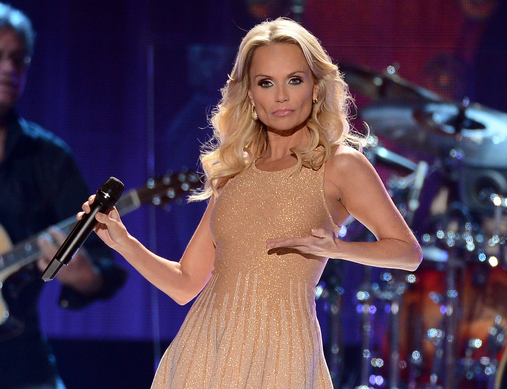 . LAS VEGAS, NV - DECEMBER 10:  Singer Kristin Chenoweth performs onstage during the 2012 American Country Awards at the Mandalay Bay Events Center on December 10, 2012 in Las Vegas, Nevada.  (Photo by Mark Davis/Getty Images)